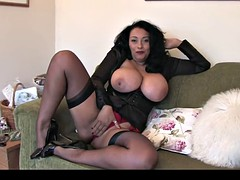 Dick ebony english milf seductive, teasing and showing off