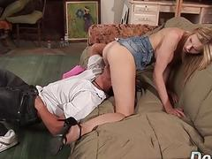 Blonde Housewife Aimee Addisons Husband Watches Her Get Railed by a Stud
