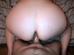 Voluptuous wife fingers her cunt and takes a dick up her ass