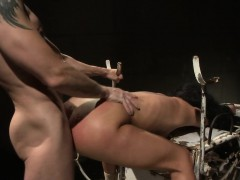 Hairy submissive tiedup and doggystyled