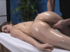 Hot 18 gal gets fucked hard by her massage therapist