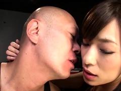 Slutty Japanese girls take turns enjoying a thick cock