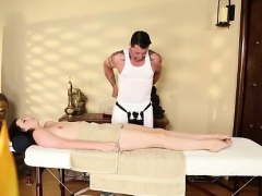 Teen babe lured by masseur