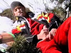 Gay sex movie dick boy Roma Smokes In The Snow