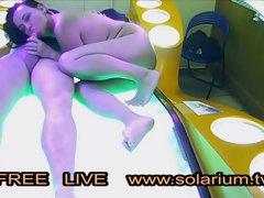 Real Duo Plow on Public Solarium Live Spycam Covert Spy Webcam