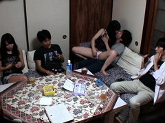 Luscious Japanese girls invite horny boys for a wild orgy