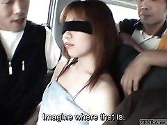 Subtitled extreme Japanese public exposure blindfold prank