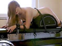 Slave gets her ass whipped while she cries very loudly