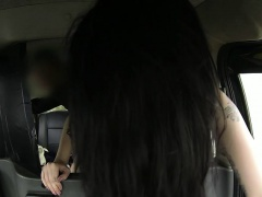 Taxi hardcore pounding with a black haired teen