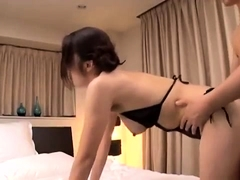 Busty Asian babe takes a deep drilling and a mouthful of cum