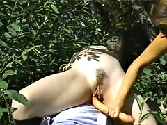 wild lesbian sex in the nature