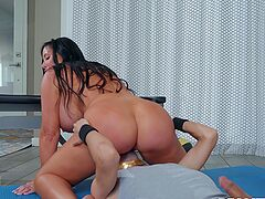Cougar mom rides the step son's huge dick in incredible modes