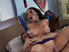 smoking hot mom vanilla deville rides her stepson's cock cowgirl style