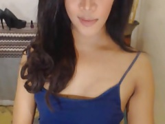 Seductive Shemale Teases and Trembles on Cam