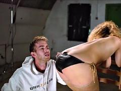 Blonde Slut with Big Tits works Big Pole