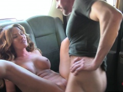 UK passenger pussynailing bigtitted cabbie