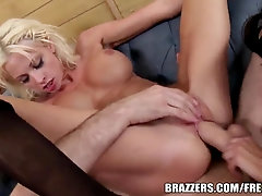 Brazzers - Ava Addams - 2 Greedy Faceholes on His Manmeat