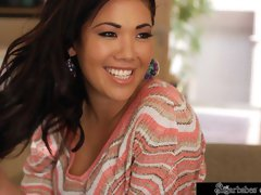 Awesome Asian model with natural tits London Keyes loves his dick