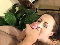 Sexy spinner Kendra gets some dick and a giant facial!