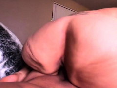 Sensuous ebony girl with a fabulous booty rides a POV dick