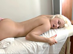 she's an innocent blonde who needs to be penetrated now!