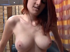 Casting a big boobed french redhead babe hard sodomized