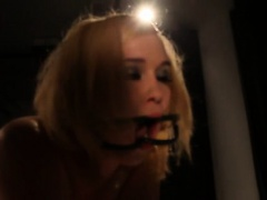 Restrained sub spanked and fingered