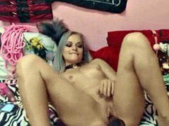 miniature flexible blonde stormy_xoxo enjoying dp and squirts