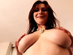 red-haired undresses and taunts with superb bumpers and opens up her butt