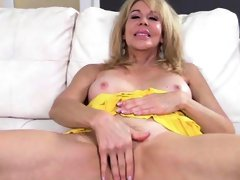 Hot Blonde MILF Erica Lauren Spreads Wide