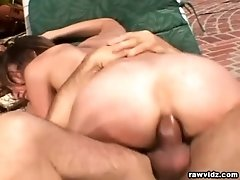 Horny Amber Rayne hard anal creampie video