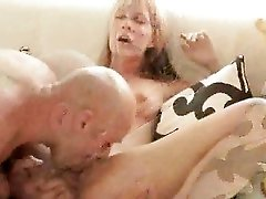 Big fat dick fucking a shaved blonde pussy