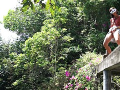 Morgan Peeing In Nature WEIRD