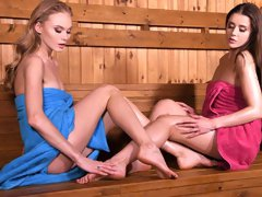 Nancy A and Sybil are both enjoying foot fetish and sex toys