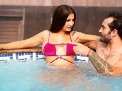 Spanish Babe Pounded in Her Bikini