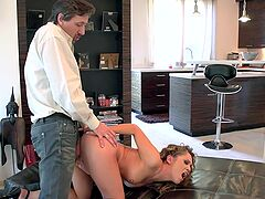 Sultry Kristina Rose lets loose while taking a rough pounding