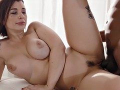 busty ivy lebelle got trimmed pussy penetrated by the hard cock