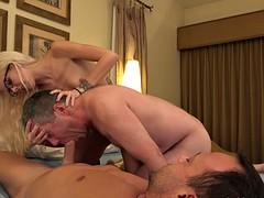Von gall and her husband take turns sucking dick