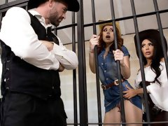 Great-looking busty Latina Lela Star is fucking in the jail