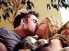 Sucking tits and licking pussy of pornstar Sarah Vandella