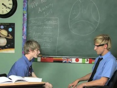 Twink sex He showcases by inserting his teacher's cock in hi