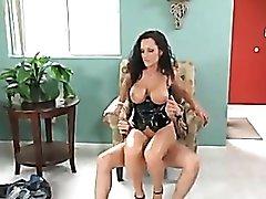 Lisa Ann wears a corset and fucks so hard