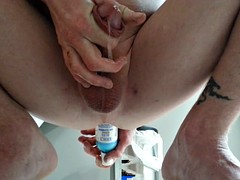 A huge yawn bottle and milking