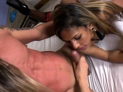 Tony Lee enjoys threesome anal