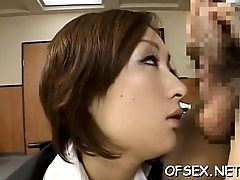 Playful asian girlie Nene gets banged in several ways