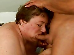 Extremely fat granny getting fucked hard
