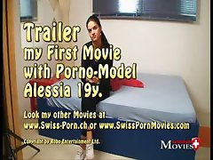 Swiss Pornmodel Alessia 19 - on the first porn casting