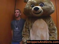 Girls go wild on male stripper party