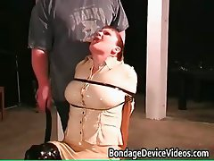 Kinky MILF gets tied and cunt inspected part2
