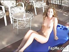 Sexy babe enjoying a massive dong